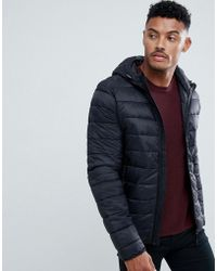 Blend - Hooded Quilted Jacket - Lyst
