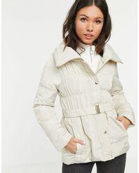 New Look Короткая Дутая Куртка Со Сборками -белый - Естественный