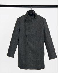 Tom Tailor Asymmetric Coat - Grey