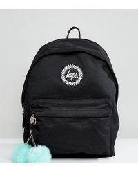 Hype - Exclusive Backpack In Black With Teal Pom - Lyst