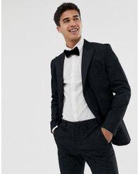 6b8ce687f95dd0 Jack   Jones - Premium Tuxedo Suit Jacket With Printed Paisley Jacquard In  Skinny Fit -