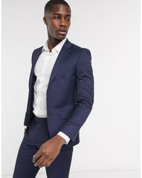 Moss Bros Moss London Suit Jacket With Stretch - Blue