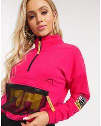 PUMA X Helly Hansen Cropped Half Zip Sweater - Pink