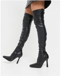 SIMMI Shoes Simmi London Minar Over The Knee Boots - Black