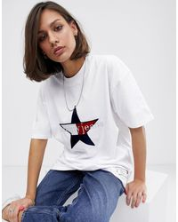 Tommy Hilfiger Summer Heritage - T-shirt avec logo étoile - Blanc