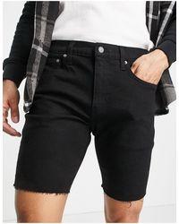 Levi's 412 Slim Fit Denim Shorts - Black