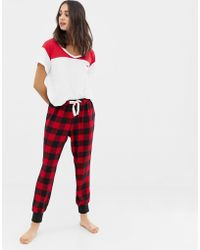 Hollister - Pyjama Trousers In Check - Lyst
