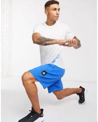 adidas Originals Синие Шорты С Логотипом Adidas-голубой - Синий