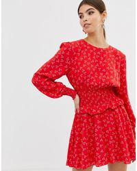Finders Keepers - Frida Smocked Ruffled Mini Dress - Lyst