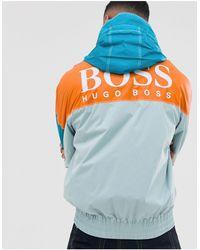 BOSS by HUGO BOSS Светло-зеленая Куртка Из Ткани Рипстоп В Стиле Колор Блок С Логотипом Oretto-зеленый - Синий