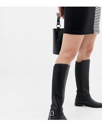 d1176f5255e8 ASOS - Wide Fit Carrick Knee High Riding Boots - Lyst