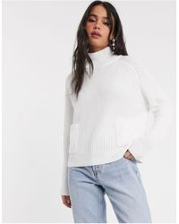 Monki Silvia Sweater With Open Back - White
