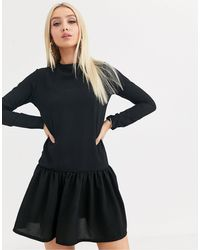 PrettyLittleThing Vestido recto - Negro