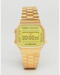 G-Shock - A168w Digital Bracelet Watch In Gold Mirror - Lyst