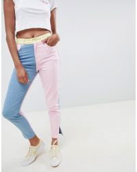 ASOS - Hello Kitty X Colour Block Jeans With Embroidery Detail - Lyst