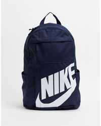 Nike Темно-синий Рюкзак С Логотипом - Белый