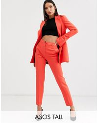 ASOS - Asos Design Tall Pop Slim Suit Trousers - Lyst