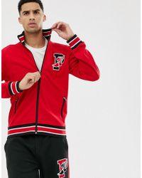 Polo Ralph Lauren Stadium - Giacca sportiva rossa con logo e zip - Rosso