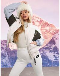 ASOS 4505 Ski Colour Block Ski Jacket - Multicolour
