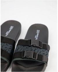 Brave Soul Utility Padded Slides - Black