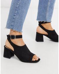 Miss Selfridge Cut Out Block Heeled Sandals - Multicolour