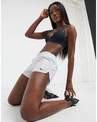 Nike Серые Шорты С Логотипом-галочкой -серый