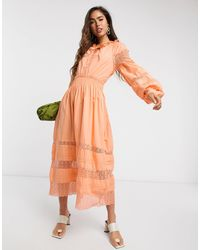 Y.A.S . Cantalina Tiered Smock Dress - Pink
