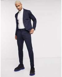 Only & Sons - Pantaloni slim affusolati blu navy - Lyst