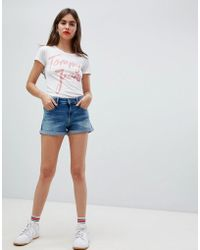 Tommy Hilfiger - Turnup Hem Denim Shorts - Lyst