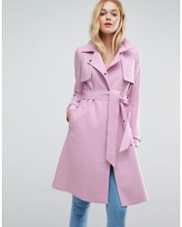 ASOS - Bonded Mac With Contrast Trims - Lyst