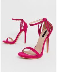 Lost Ink Lara Heeled Sandal - Pink