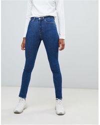 Weekday Thursday Organic Cotton High Waist Skinny Jeans - Blue