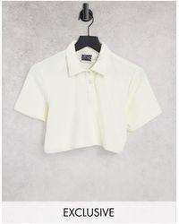 Reclaimed (vintage) Camisa color crudo con cuello - Blanco