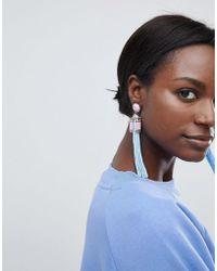 ASOS - Design Statement Bead And Tassel Earrings - Lyst