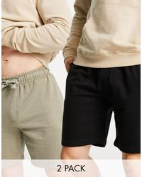 French Connection 2 Pack Jersey Shorts - Multicolour