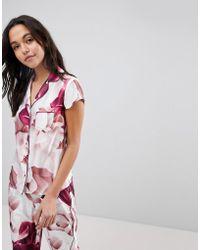 Ted Baker - B By Porcelain Rose Revere Pyjama Shirt - Lyst