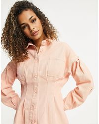 Missguided Co-ord Shirt With Corset Detail - Pink