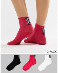 French Connection - Fcuk Sock 3 Pack - Lyst