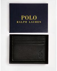 Polo Ralph Lauren Porte-cartes en cuir - Noir