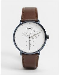 BOSS by Hugo Boss Reloj básico con esfera plateada - Marrón