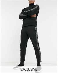 Calvin Klein Эксклюзивные Черные Джоггеры С Фирменной Лентой -черный