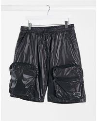 Criminal Damage Nylon Utility Shorts - Black