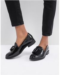 H by Hudson Fringe Leather Loafer - Black