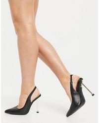 SIMMI Shoes Черные Туфли-лодочки С Ремешком На Пятке Simmi London Kegz-черный Цвет