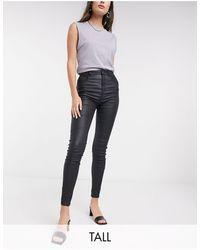 New Look Черные Моделирующие Джинсы Скинни Из Искусственной Кожи С Покрытием -черный Цвет