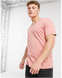 ASOS Розовая Футболка С V‐образным Вырезом - Розовый