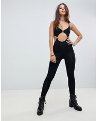 Motel - Unitard With Cut Out Chain Detail - Lyst