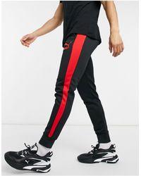 PUMA - Черные Спортивные Штаны С Логотипом T7-черный Цвет - Lyst