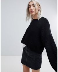Weekday | Thick Rib Cropped Jumper | Lyst