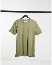 TOPMAN Longline T-shirt - Green